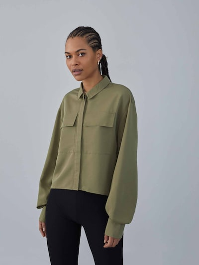 Camicia da donna 'Felicia' LeGer by Lena Gercke di colore oliva, Visualizzazione modelli