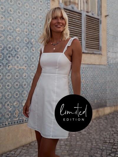 ABOUT YOU Limited Kleid 'Kili' by Janine Jahnke in weiß, Modelansicht