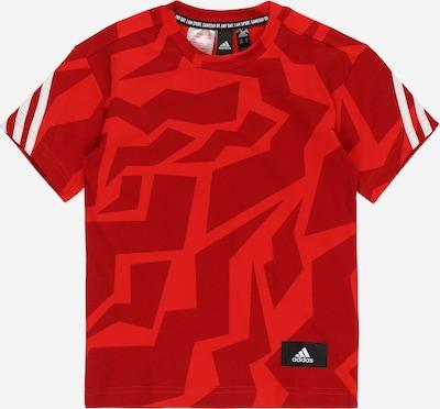 ADIDAS PERFORMANCE Sportshirt in rot / dunkelrot / weiß, Produktansicht