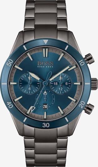 BOSS Casual Аналогов часовник 'Santiago' в сребърно сиво / виолетов, Преглед на продукта