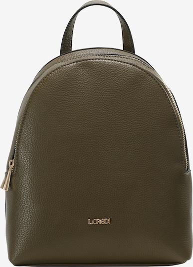 L.CREDI Cityrucksack 'Ebony' in grün, Produktansicht