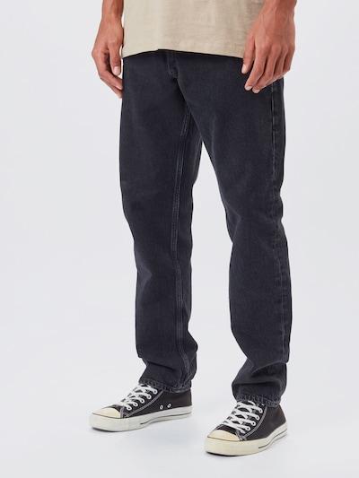 JACK & JONES Kavbojke 'Chris' | črn denim barva, Prikaz modela