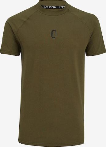 Leif Nelson Gym T-Shirt Rundhals in Grün