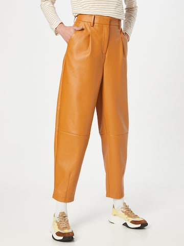 Another Label Pleat-Front Pants 'Delfine' in Brown