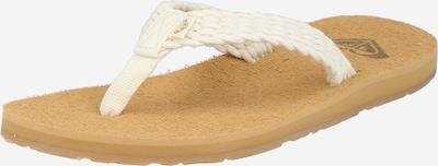 ROXY Sandalias de dedo 'PORTO III' en beige / blanco, Vista del producto