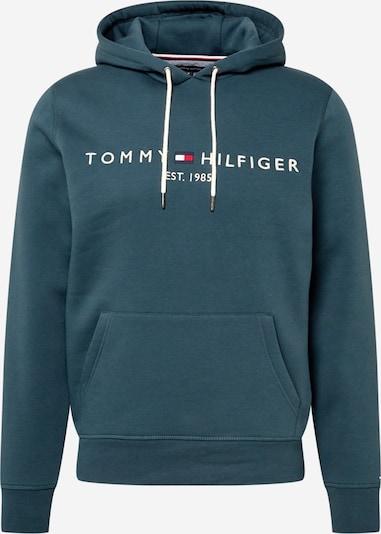 TOMMY HILFIGER Mikina - petrolejová / biela, Produkt