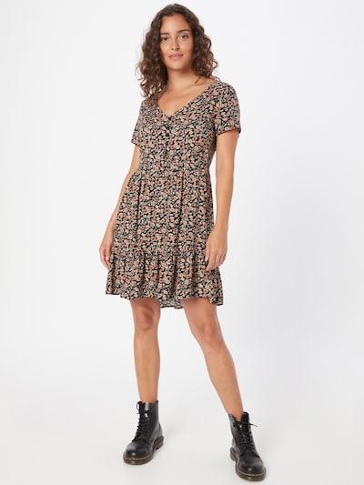 Hailys Kleid 'Clara' in beige / hellblau / schwarz, Modelansicht