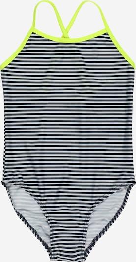 NAME IT Badeanzug 'Felisia' in neongrün / schwarz / weiß, Produktansicht
