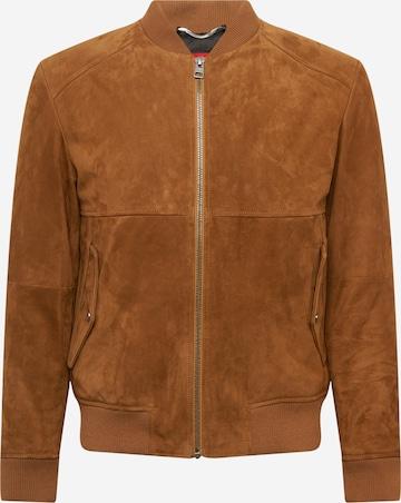 HUGO Between-season jacket 'Liku' in Brown