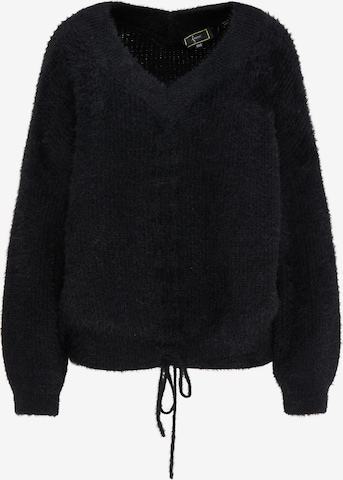faina Υπερμέγεθες πουλόβερ σε μαύρο