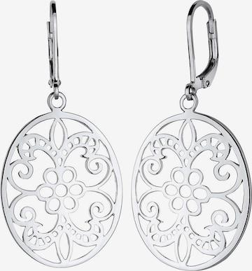 ELLI Earrings 'Ornament' in Silver