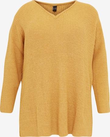 Pull-over oversize Yoek en jaune