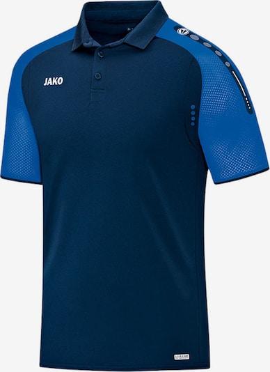 JAKO Poloshirt in nachtblau / himmelblau / weiß, Produktansicht