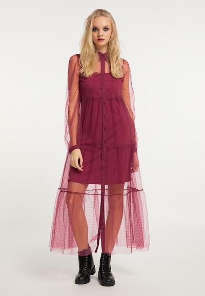 myMo ROCKS Kleid in bordeaux, Modelansicht