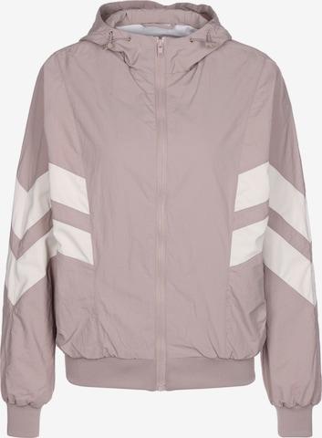Urban Classics Between-Season Jacket 'Crinkle Batwing' in Pink