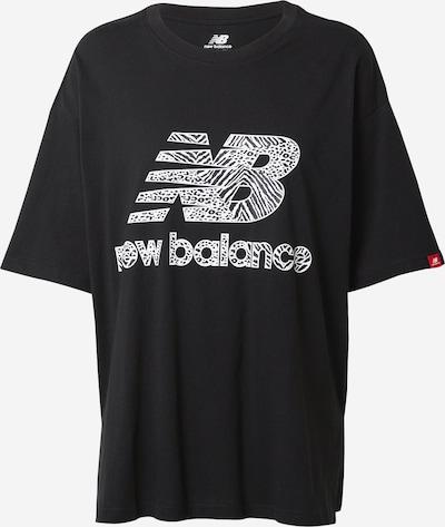 new balance T-shirt en noir / blanc, Vue avec produit