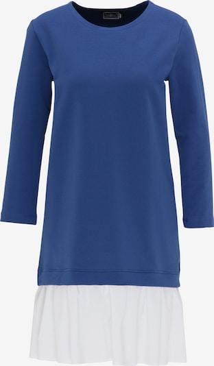 DreiMaster Maritim DreiMaster Maritim Sweatshirtkleid in blau / weiß, Produktansicht