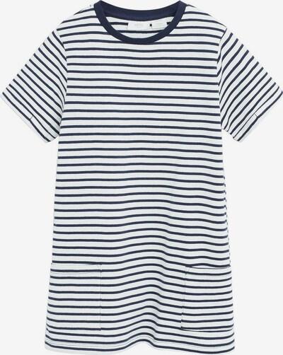MANGO KIDS Kleid 'Raya' in navy / weiß, Produktansicht