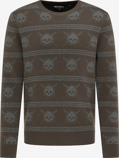 TUFFSKULL Pullover in taupe / oliv, Produktansicht