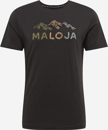 Tricou funcțional 'Schwarzkiefer' de la Maloja pe negru
