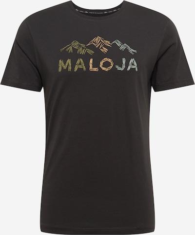 Tricou funcțional 'Schwarzkiefer' Maloja pe bej / azur / oliv / negru, Vizualizare produs