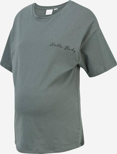 MAMALICIOUS T-shirt 'Marylee' en vert / noir, Vue avec produit