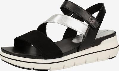 MARCO TOZZI Sandalen in schwarz / silber, Produktansicht