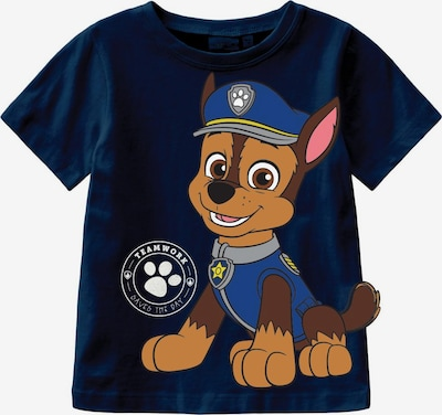NAME IT T-Shirt 'Pawpatrol Brais' en bleu / saphir / marron / blanc, Vue avec produit