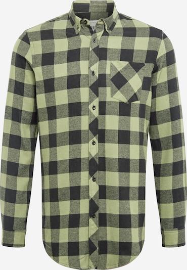Redefined Rebel Skjorte 'Hector' i grafit / gråmeleret / pastelgrøn, Produktvisning