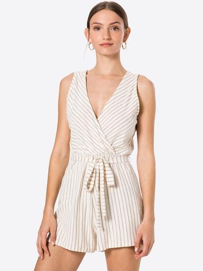 ABOUT YOU Overall 'Hanne' in braun / weiß, Modelansicht