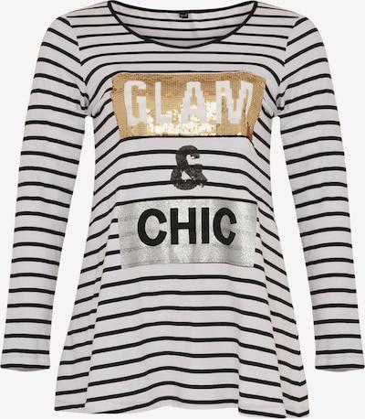 Yoek Shirt in de kleur Goud / Zilver, Productweergave
