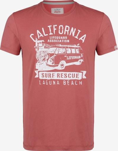 VAN ONE Shirt in de kleur Rood / Wit, Productweergave
