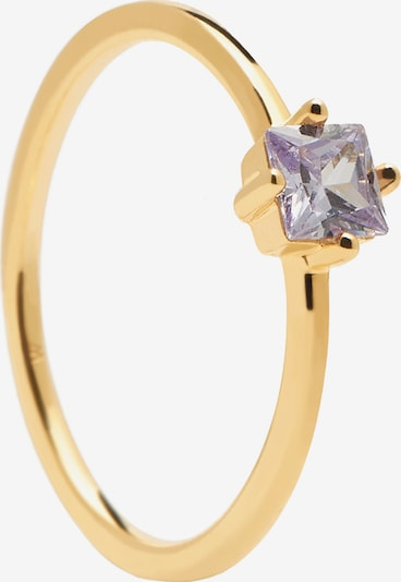P D PAOLA Ring in gold / lila, Produktansicht