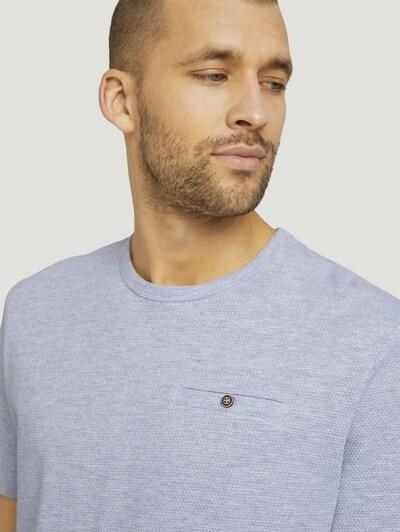 TOM TAILOR Shirt in de kleur Smoky blue / Lichtgrijs, Productweergave