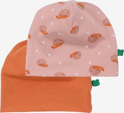 Fred's World by GREEN COTTON Beanie in Dark orange / Pink / White, Item view