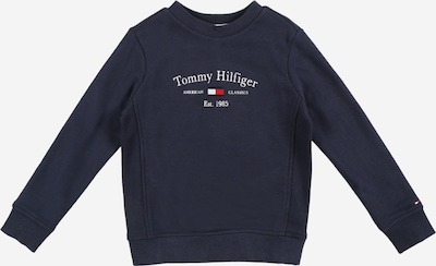 Bluză de molton TOMMY HILFIGER pe bleumarin / alb, Vizualizare produs