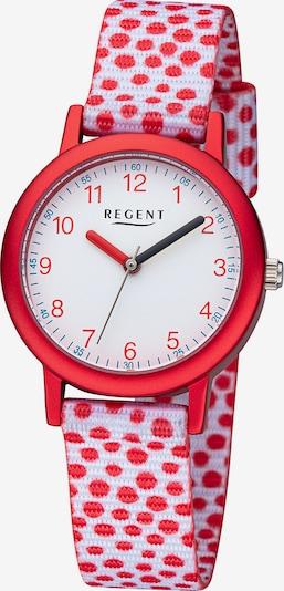 REGENT Uhr in rot / weiß, Produktansicht