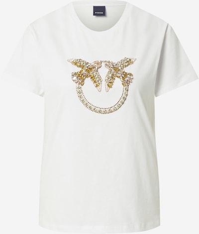 PINKO Shirt 'QUENTIN' in de kleur Geel / Wit, Productweergave