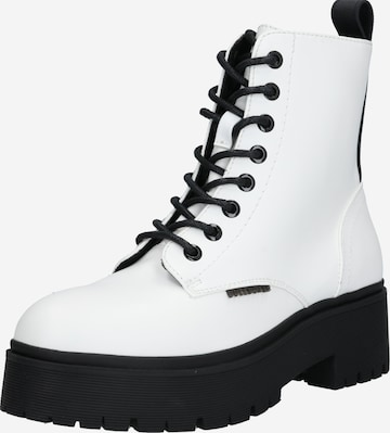 BULLBOXER Lace-Up Ankle Boots in White