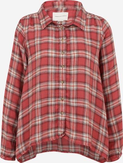 American Eagle Bluse in hellbraun / rot / weiß, Produktansicht