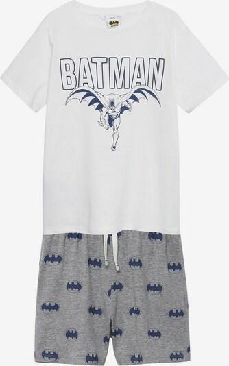 MANGO KIDS Pyjama 'Batman' in dunkelblau / graumeliert / weißmeliert, Produktansicht