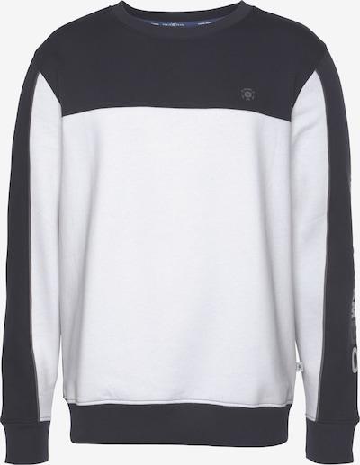 Tom Tailor Polo Team Sweatshirt in grau / weiß, Produktansicht