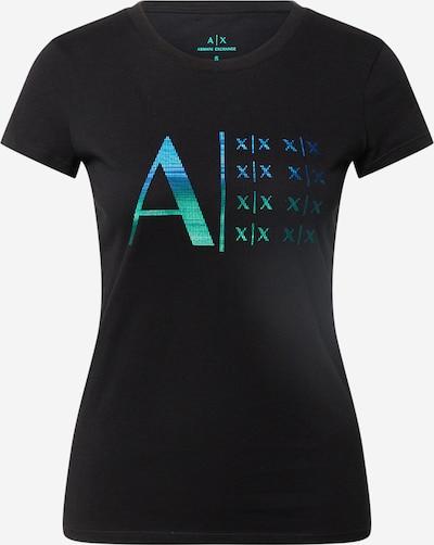 ARMANI EXCHANGE Camiseta en azul / verde / negro, Vista del producto