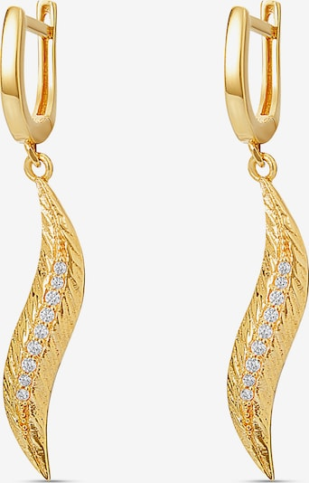 MOSUO JEWELLERY Ohrringe 'Feather' in gold, Produktansicht
