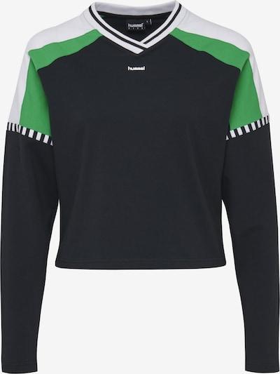 hummel hive T-Shirt 'Cate' in grün / schwarz / weiß, Produktansicht