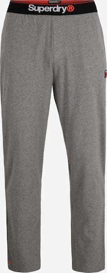 Superdry Spodnji del pižame 'LAUNDRY' | pegasto siva / rdeča / črna barva, Prikaz izdelka