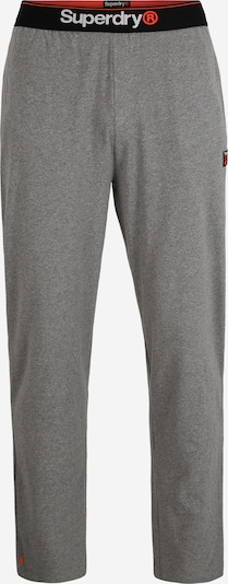 Superdry Pidžama hlače 'LAUNDRY' u siva melange / crvena / crna, Pregled proizvoda