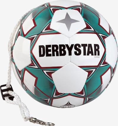 DERBYSTAR Ball in dunkelgrün / dunkelrot / schwarz / weiß, Produktansicht