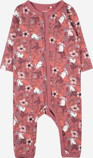 Guppy Schlafanzug 'ODA' en orange / rosa / schwarz / weiß, Vue avec produit