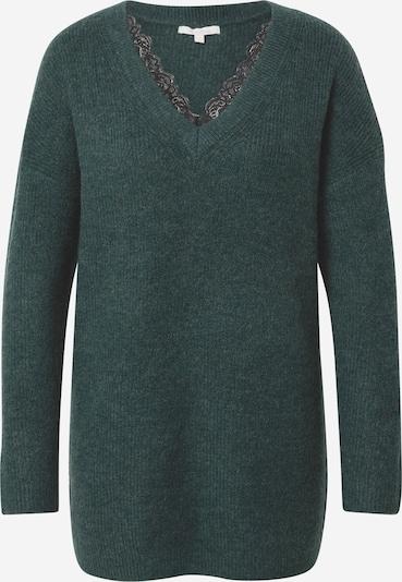 TOM TAILOR DENIM Pulover | temno zelena barva, Prikaz izdelka